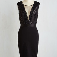 LBD Long Sleeveless Sheath Center Stage Courageous Dress