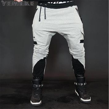 New Spring sweat pants men clothing fashion joggers pants male top quality casual trousers Gray black