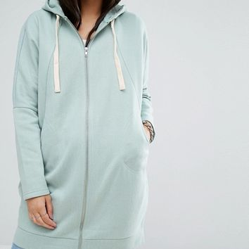 Noisy May Longline Zip Hoodie at asos.com