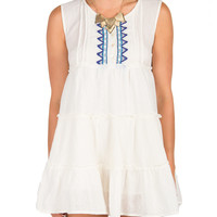 Native Embroidered Babydoll Dress - Medium