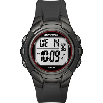 Timex Marathon Digital Full-Size Watch - Black-Gunmetal [T5K642]