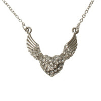 LOVEsick Bling Winged Heart Necklace