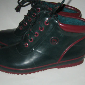 80's 90's vintage lace-up ankle DUCK BOOTS by Sporto size 6