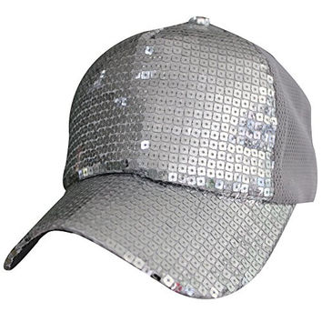 Womens Summer Beach Mesh Sun UV Sequins Running Golf Baseball Hat Hats Cap Visor