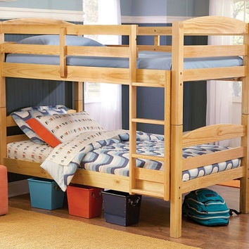 Knud Natural Twin over Twin Bunk Beds
