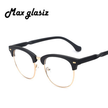 Hot Sale 2016 Retro Fashion Black Women Glasses New Designer Nerd Men Glasses Frame Clear Lens Vintage Eyewear High quality