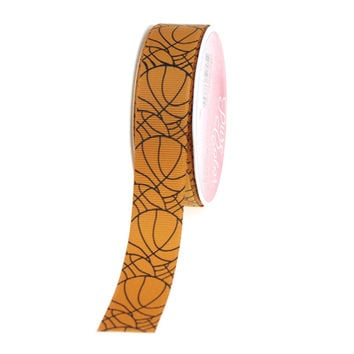 Basketball Print Grosgrain Ribbon, 7/8-inch, 5-yard