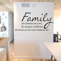 """""""Family Like Branches On A Tree"""" Wall Sticker"""