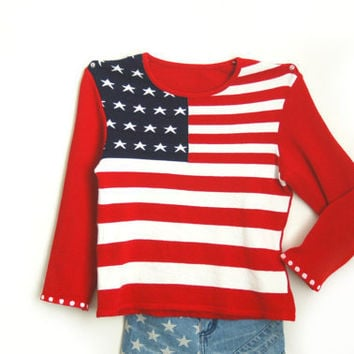 American flag sweater to watch the fireworks in by ocolorworld