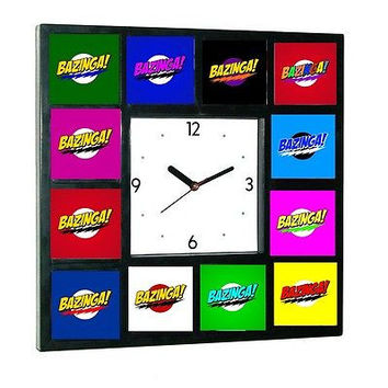 The Big Bang Theory Sheldon Cooper BAZINGA rainbow Clock with 12 pictures