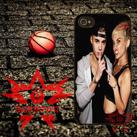 Justin Beiber And Milley Cyrus iPhone 4 4s 5 5s 5c and Samsung Galaxy S2 S3 S4 Case