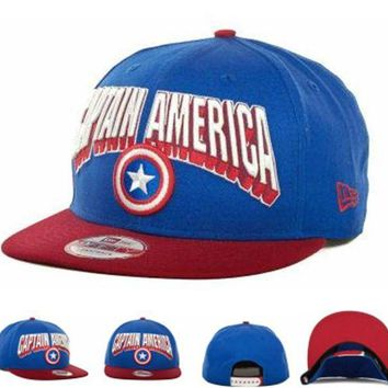 DCCKUN7 Marvel Captain America Visor Story 2 59fifty Cap Cap Snapback Hat - Ready Stock