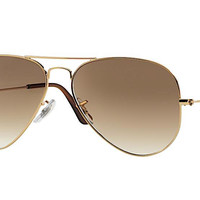 RAY BAN RB 3025 001/51 GOLD WITH BROWN GRADIENT