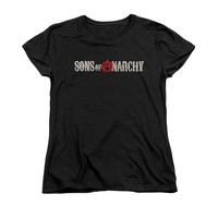 SONS OF ANARCHY BEAT UP LOGO Women's Short Sleeve T-Shirt