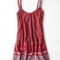 AEO Women's Double Strap Slip Dress (Red)
