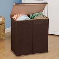 Double Laundry Sorter Coffee linen