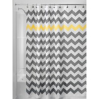 InterDesign Chevron Shower Curtain - Gray/Yellow
