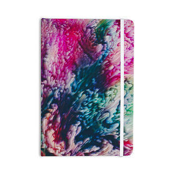 "Malia Shields ""Splash Abstract Ink"" Magenta Green Everything Notebook"