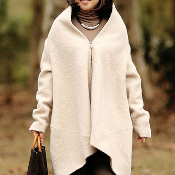 Women woolen cropped coat Winter Warm Jacket Casual Jacket Stand collar coat (WJ11188)