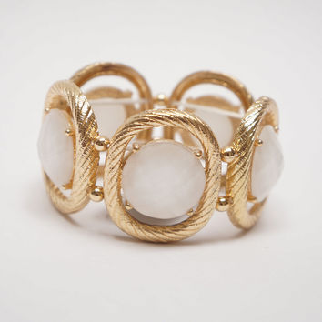 Be Jewel-ous Elastic Bracelet White Mabel Ed.