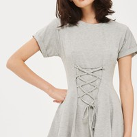 Corset Flippy Tunic Dress | Topshop