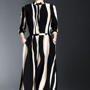 Stripe Dress W/ Pockets