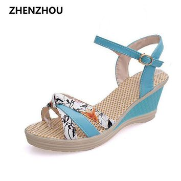 Women's shoes 2017 Summer style Women sandals wedge female sandals high platform wedg