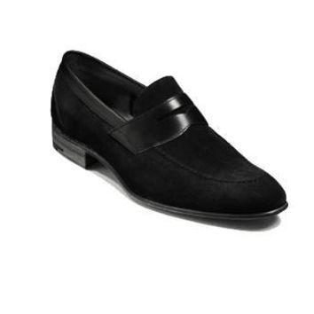 Wakeby Wolf Fancy Suede Penny Loafers