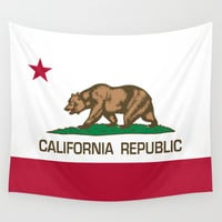"California Republic state flag - Authentic Version ""retweaked"" Wall Tapestry by Bruce Stanfield"