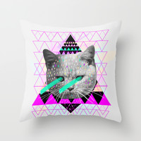 Pastel Throw Pillow by Kris Tate