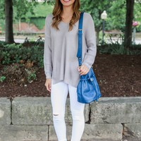 Spring Showers Sweater - Dusty Lavender