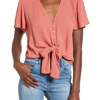 Knot Front Shirt | Nordstrom