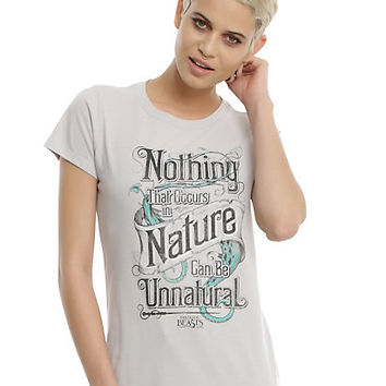 Fantastic Beasts And Where To Find Them Unnatural Quote Girls T-Shirt