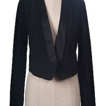 Women Casual & Business Open Front Twill Blazer Suit Jacket