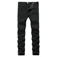 Denim Stretch Black Slim Men Pants [127701549085]
