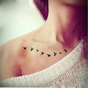 Waterproof Temporary Tattoo Sticker on body fly birds tattoo Water Transfer sexy fake tattoo flash tattoo for girl women lady