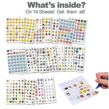 19 Pages / 12 Pages  Emoji Sticker