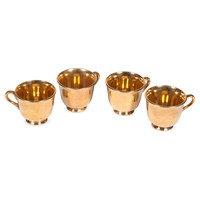 Gold Teacups, Set of 4 #huntersalley
