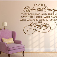 Christian Wall Decal. I Am the Alpha and the Omega - CODE 082