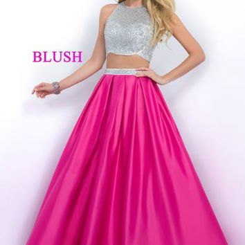 Blush Two Piece A Line Dress 5510
