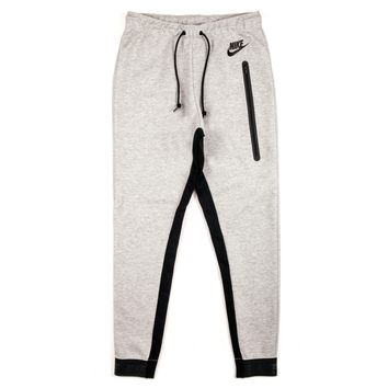 Nike Womens Tech Fleece Pants - Dark Grey Heather Black