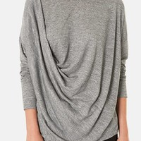 Topshop Long Sleeve Drape Top | Nordstrom