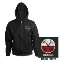 Roger Waters Official Store | Roger Waters The Wall Live 2013 Hammers Black Zip Hoodie