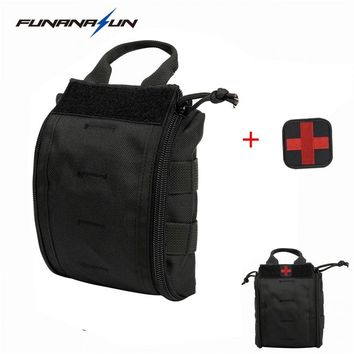 Military Molle Medical Pouch Emergency Survival Gear Bag EMT First Aid Pouch Utility Bag EDC Hunting Utility Vest Belt Bag