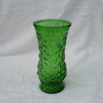 Vintage Hoosier vase, emerald green -  8.5 inches - 50% off, clearance