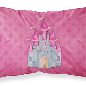 Princess Castle Watercolor Fabric Standard Pillowcase BB7405PILLOWCASE