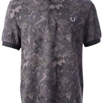 Fred Perry Camouflage Print Polo Shirt