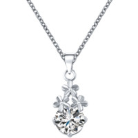 Fashion Necklace Pendant Luxury Gold Crystal Zircon Love Heart Sweater Necklace