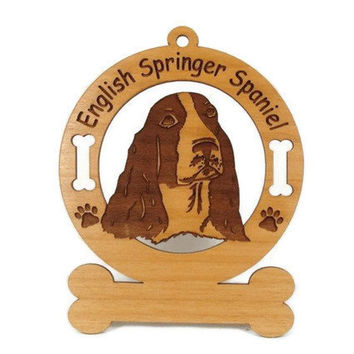 3167 English Springer Spaniel Personalized Dog Ornament