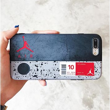 Jordan Fashion New People Letter Print Women Men Phone Case Protective Cover